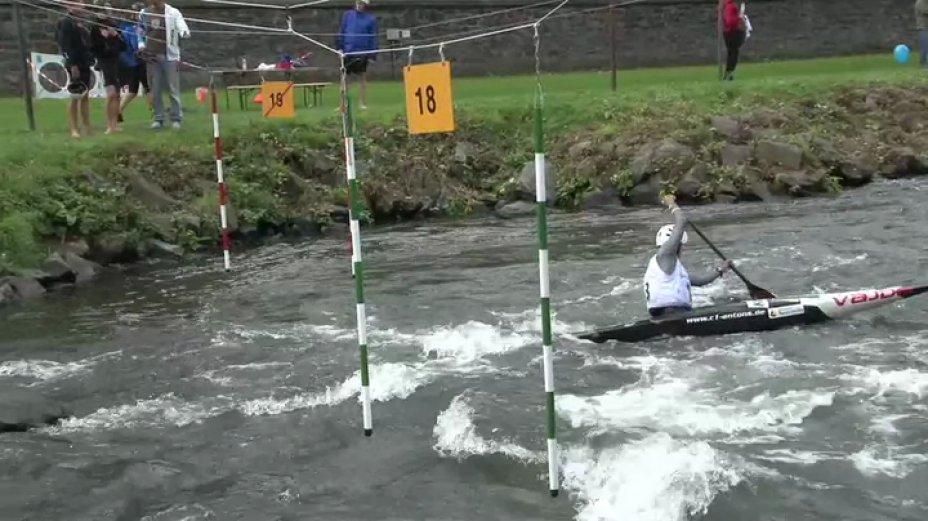 Damen C1 - 1. Lauf - Deutschlandcup Finale 2013 Hohenlimburg