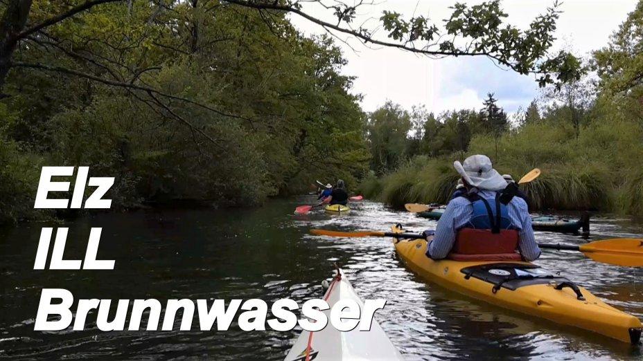 Fluesse am Oberrhein, Brunnwasser, ILL, und Elz bei Kehl und Strasbourg