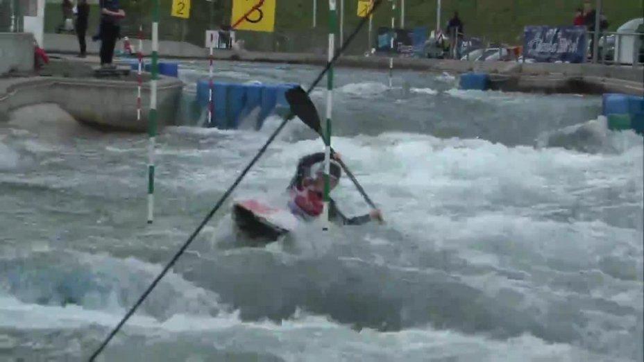 Lisa Fritsche - Quali 2015  Rennen 2 K1-Damen-Finale / Markkleeberg