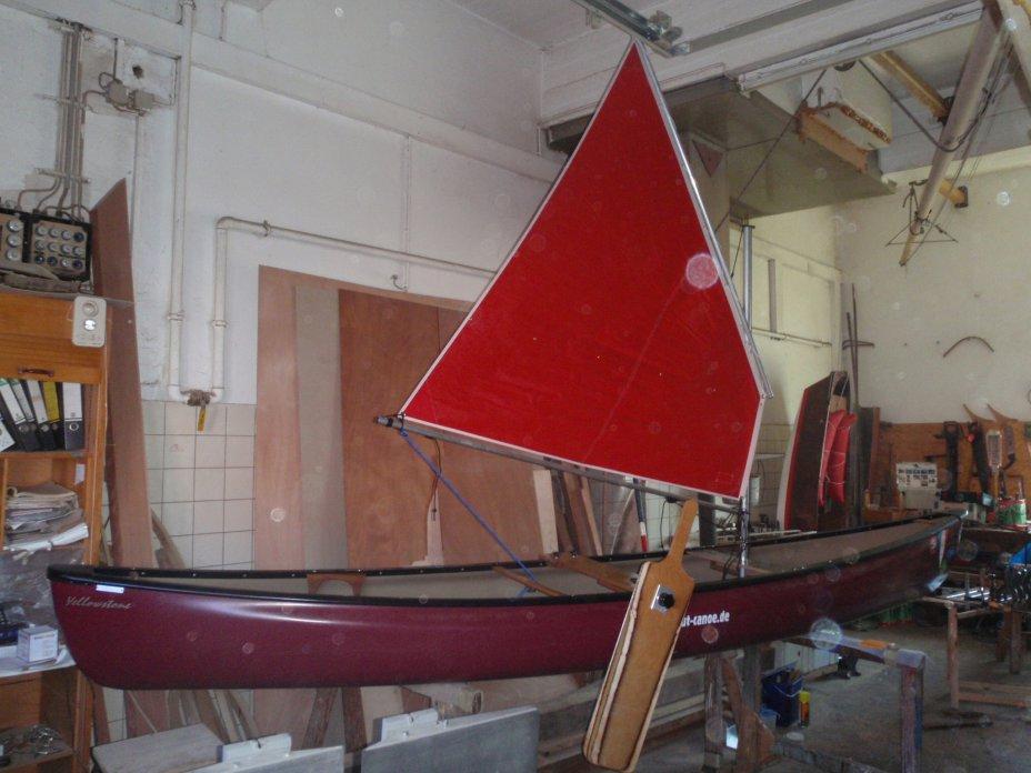 Beispiel einer einfachen aber praxistauglichen Ausstattung für das Kanusegeln