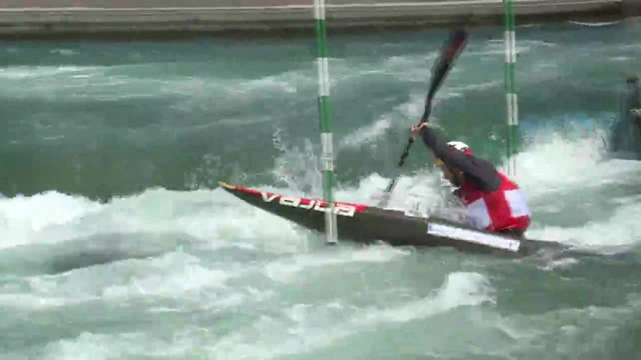 Hannes Aigner - Quali 2015  Rennen 2 K1-Herren-Finale / Markkleeberg