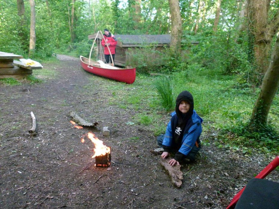 Schlafhütten für Wasserwanderer im Limfjordgebiet