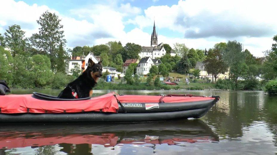 LAHN-Kanutour 2016: von Weilburg nach Runkel - Clip 2