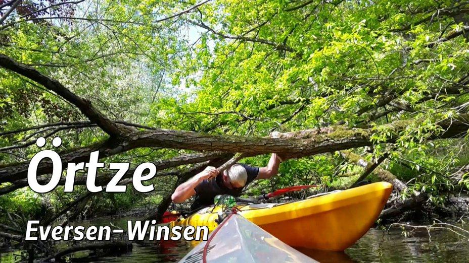 Heidefluss Oertze,  Kanutour von  Eversen bis Winsen/Aller, Teil 2.